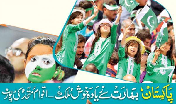 Pakistan Bharat Say Ziada Khush Mulk