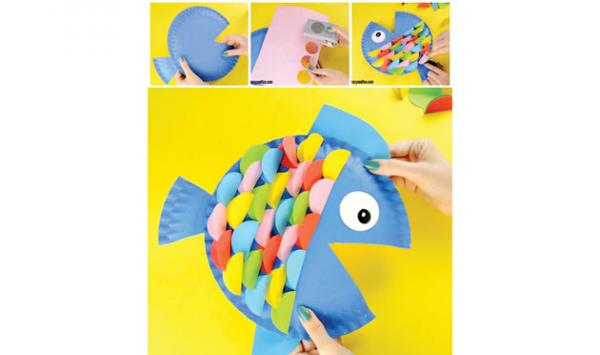 Make Fish From Paper Plate