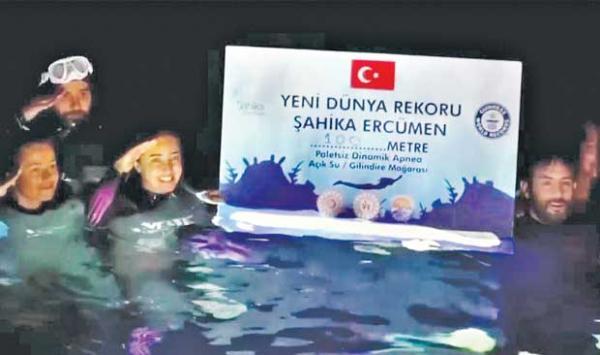 In Turkey Swimming A Unique Record