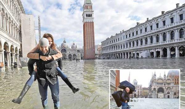 Italy Flood Situation In Venice