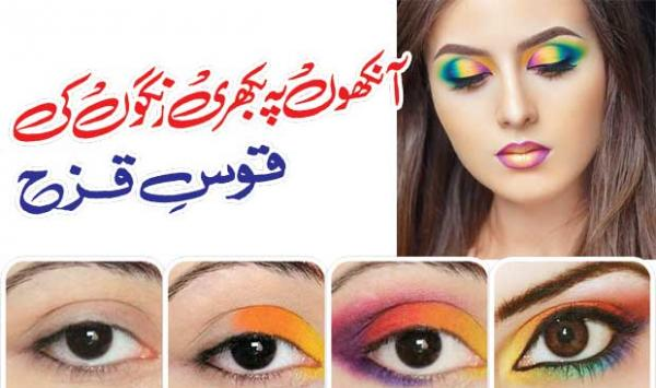 The Rainbow Of Scattered Colors On The Eyes