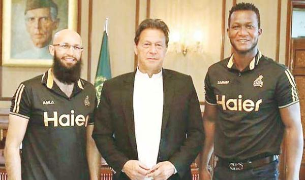 Sammy And Hashim Amla Also Met The Prime Minister