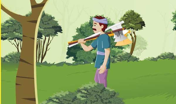 Lumberjack And Bird