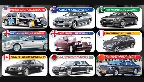 Precious And Modern Vehicles Of World Leaders