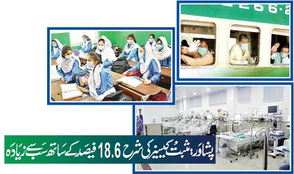 Peshawar Positive Cases Rate Highest With 186