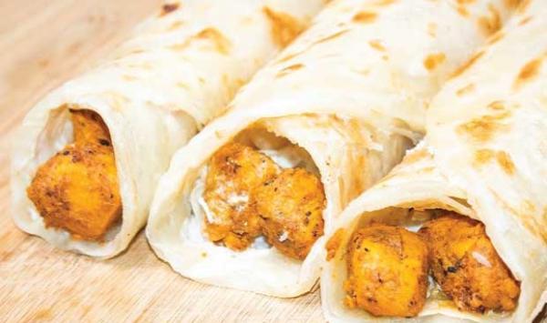 Chicken Tea Pratha Roll