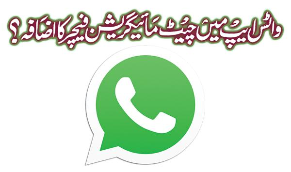 Added Chat Migration Feature In Whatsapp