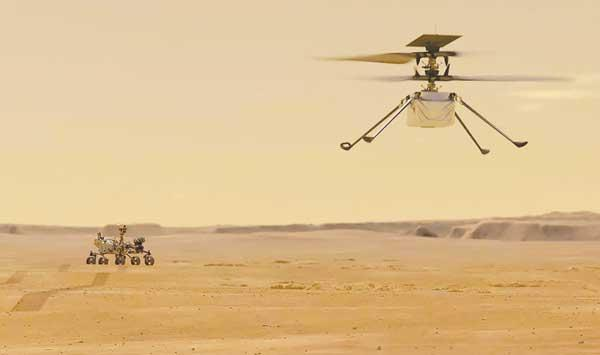 The First Flight Of A Nasa Helicopter To Mars