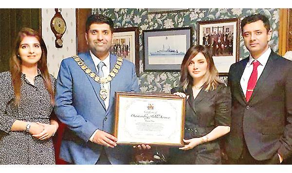 British Award For Armina Khan