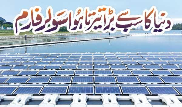 The Worlds Largest Floating Solar Farm