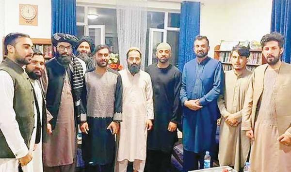 Afghan Cricket Team Captain Hashmatullah Meets With Taliban Leader Anas Haqqani