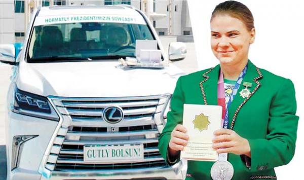 Prize Showers On Turkmenistans First Olympic Medalist