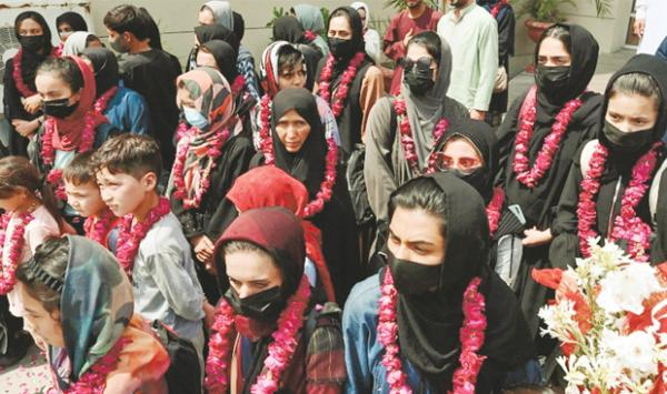 Afghan Women Footballers Arrive In Pakistan