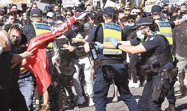 Australia Violent Protest Against Lockdown